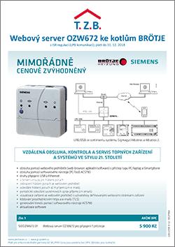 Webový server Siemens pro kotle BRÖTJE