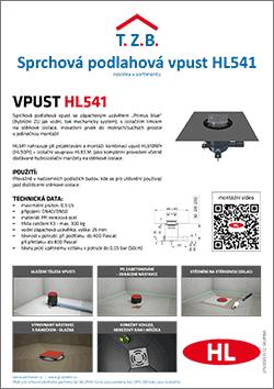 Sprchová vpust HL541